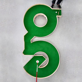 a typographic miniature golf course by ollie willis