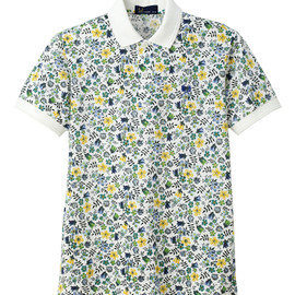 Fred Perry - Liberty Printed Polo Shirt White