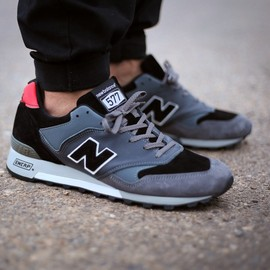 "New Balance - The Good Will Out x New Balance 577 ""Autobahn"" Pack/Black×Grey"