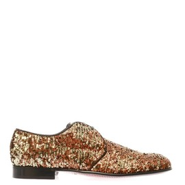 DOLCE&GABBANA - Sequinned lace-up shoes