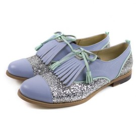 Mödernaked - Leather Oxford Lilac Shoes