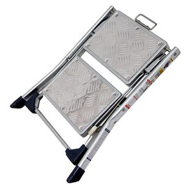 DULTON - Folding 2-Steps Ladder Galvanized