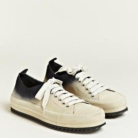 Ann Demeulemeester - Scamosciato Contrast Colour Trainers