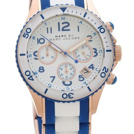 MARC BY MARC JACOBS - Rock Chrono Watch  (Rose Gold/Maliblue)