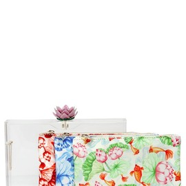 Charlotte Olympia - FW2014 IN BLOOM PANDORA PERSPEX CLUTCH