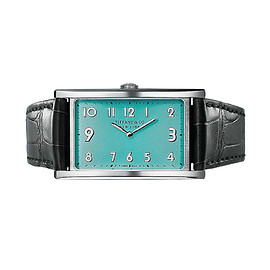"TIFFANY&Co. - TIFFANY EAST WEST ""Tiffany Blue"": 2-ハンド 42 x 25MM"