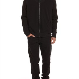 Alexander Wang - Brushed Ponte Zip Up Jacket Thumb
