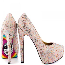 """TIL DEATH""Pumps/silver"