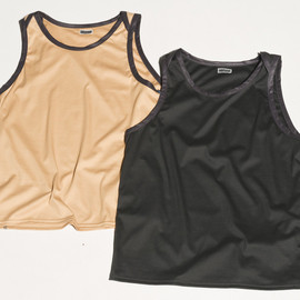 CYDERHOUSE - PIPING LEATHER TANK TOP