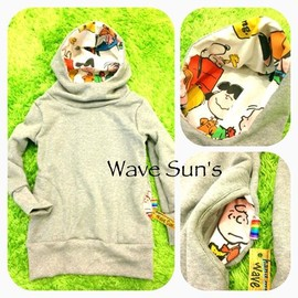 Wave Sun's - handmade  snoopy×gray  スヌーピー ハンドメイド