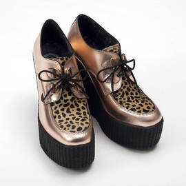 Underground - Underground Rose Gold Wedge Creepers