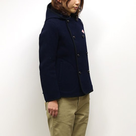 DANTON - WOOL MOSSER DOUBLE BUTTON HOODED JACKET