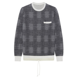 sacai - Check Pullover Knit-4