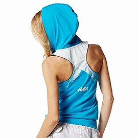 Zumba Fitness - Zumba Print Perfect Sleeveless Hoodie   Bangin Blue