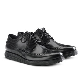 Cole Haan - LunarGrand Long Wingtip - Black/Black