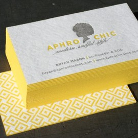 Aphro Chic Blotter Business Cards