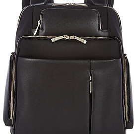 Barneys New York - Saffiano Leather-Trimmed Backpack -  - Barneys.com