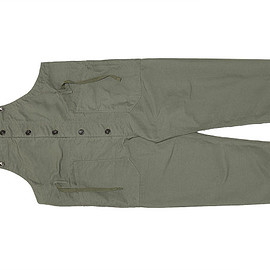 ENGINEERED GARMENTS - Overalls-Cotton Double Cloth-Olive