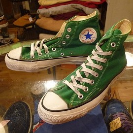 "converse - 「<deadstock>80's converse ALLSTAR HI green""made in USA"" size:US7 12800yen」完売"