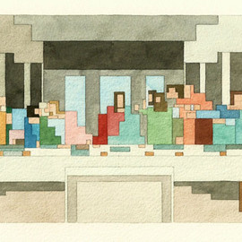 Adam Lister - Last Supper painting
