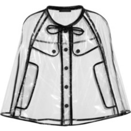 BURBERRY PRORSUM -  Patent leather-trimmed cape