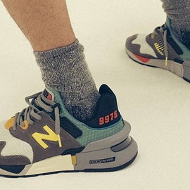 Bodega, New Balance - 997S - Dark Grey/Light Blue/Bright Yellow?