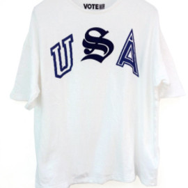 "VOTE MAKE NEW CLOTHES - VOTE MAKE NEW CLOTHES (ヴォートメイクニュークローズ)  // ""USA BIG TEE"" - WHITE (ビッグティー)"