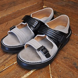"COURTLEY&SONS - ""SANDAL"" col.GREY/BLACK[SM.PS.03]"