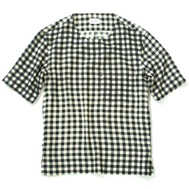 soe - GINGHAM CHECK BROAD CLOTH CREW-NECK SHIRT