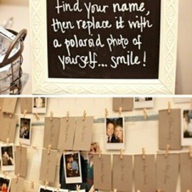 Fun way to encourage guests to take photos of themselves at your wedding.