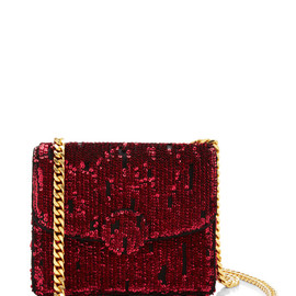 MARC JACOBS - RESORT 2015 Mini Trouble Bag In Ruby Embroidered Paillettes