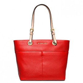 MICHAEL KORS - MICHAEL Michael Kors Bedford Leather Tote Red