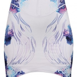 bless'ed are the meek - Aquatic Mirage Skirt