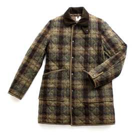 ts(s) - Irish Country Plaid Donegal Tweed Cloth Quilted Coat