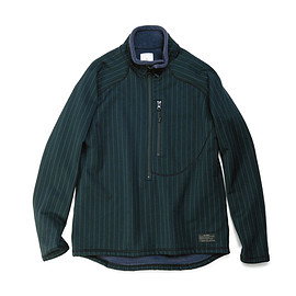 uniform experiment - POLARTEC® FLEECE STRIPE HALF ZIP STAND COLLAR CUT & SEWN