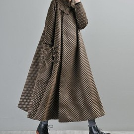 maxi wool coat - Women's maxi wool coat, Loose wool coat, wool robes, wool coat for women, maternity maxi clothes