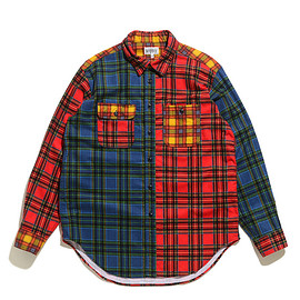 WORKADAY - Utility Shirt Combo-Brushed Plaid-Red×Black