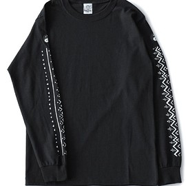 TOGA ODDS&ENDS - Print L/S Tee (black)