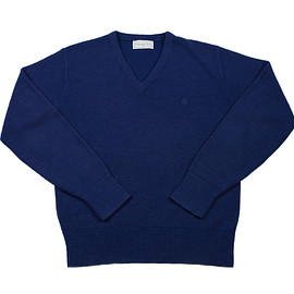 VINTAGE - Vintage Christian Dior Acrylic Sweater in Navy Blue Made in USA Mens Size Small