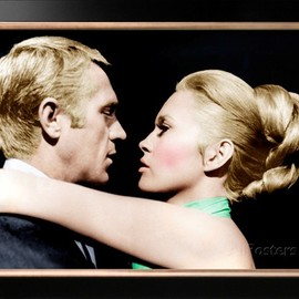 THE THOMAS CROWN AFFAIR, from left: Steve McQueen, Faye Dunaway poster