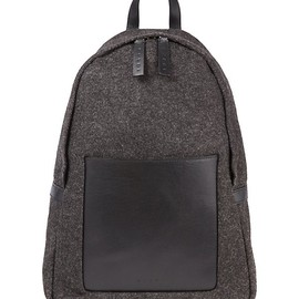 MARNI - MARNI Felt-leather backpack (Grey/black