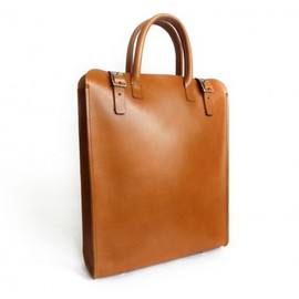 basader - Handmade Leather Tote - Light Brown Leather