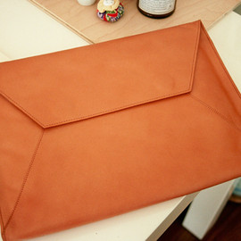envelope case and clutch - natural raw