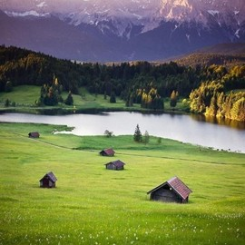 ドイツ - Mountain Lake, Bavaria, Germany