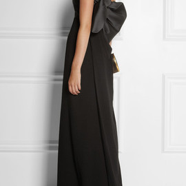 Lanvin - Satin-twill and crepe gown