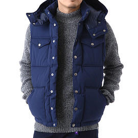 THE NORTH FACE PURPLE LABEL - 65/35 Hooded Sierra Vest
