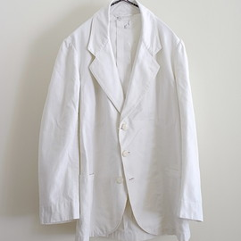 LILY1ST VINTAGE - 1920-1930'S FRENCH LINEN MIXED SUMMER TAILORED JACKET