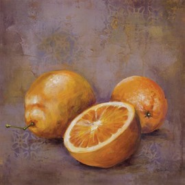 InGallery.com - Fruit Snack III by Georgie Fine Art Canvas 12 x 12 in Gallery Wrap Wall Decor