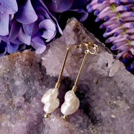 mother - Gypsy pearl earrings