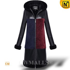 CWMALLS - CWMALLS® Chicago Shearling Sheepskin Hooded Coat CW652119